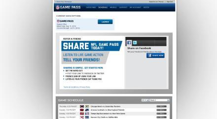 NFL Gamepass Startseite