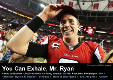 Matt Ryan hat gewonnen - Bild: ESPN.com