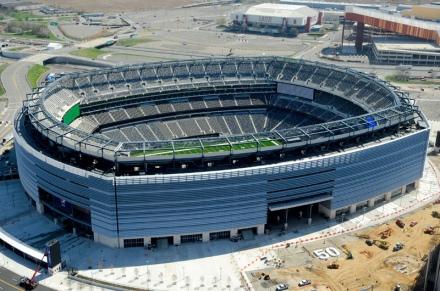 Das Stadion kurz vor der Vollendung 2010 - Bild:Wikipedia