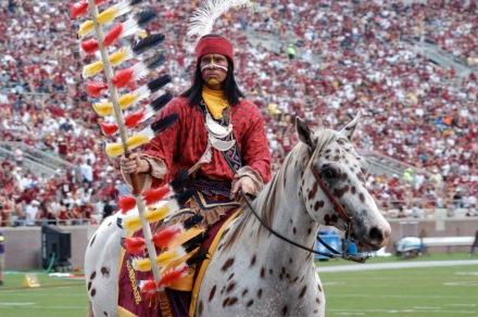 Seminoles-Maskottchen: Chief Osceola und Renegade - Bild: Wikipedia